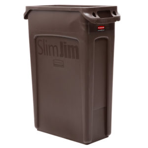 Rubbermaid 1956187 contenedor Slim-jim con capacidad para 23 galones, color café