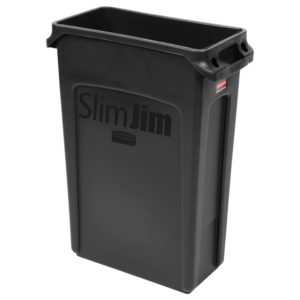 Rubbermaid FG354060BLA contenedor Slim-jim  con capacidad para 23 galones, color negro