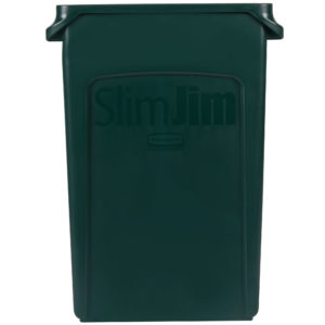 Rubbermaid 1956186 contenedor Slim-Jim con capacidad para 23 galones, color verde