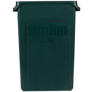Rubbermaid 1956186 contenedor Slim-Jim con capacidad para 23 galones, color verde