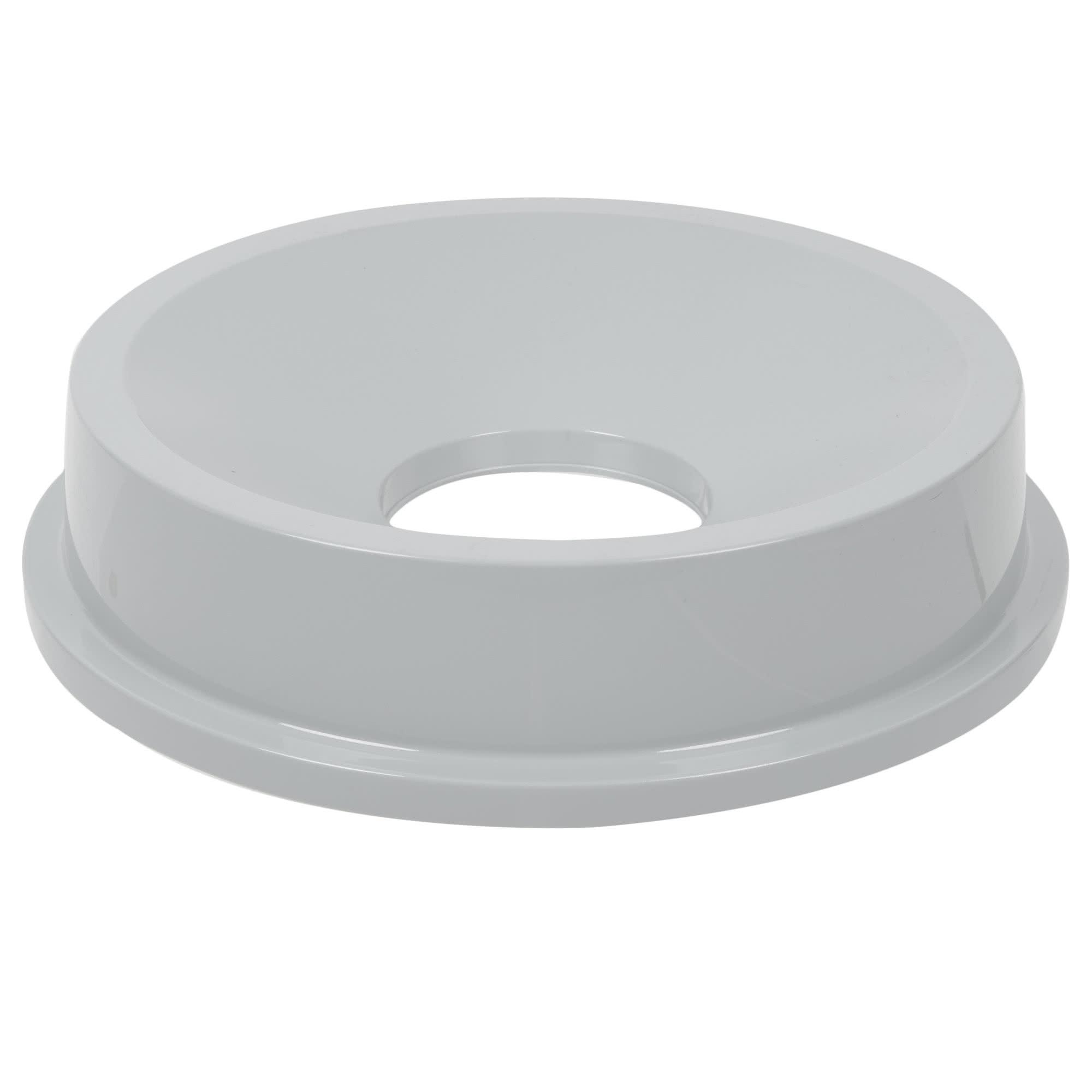 Rubbermaid FG354300GRAY tapa brute color gris round funnel top, aplica contenedor brute de 32 galones 1