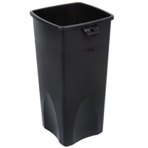Rubbermiad FG356988BLA contenedor untouchable cuadrado con capacidad para 23 galones, color negro