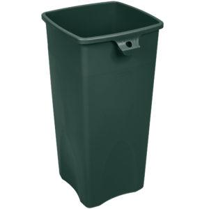 Rubbermiad 2031805 contenedor untouchable cuadrado con capacidad para 23 galones, color verde