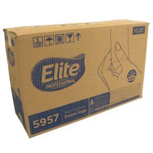 Elite 5957 Higiénico institucional universal junior hoja doble, caja con 12 rollos de 180 mts cada uno