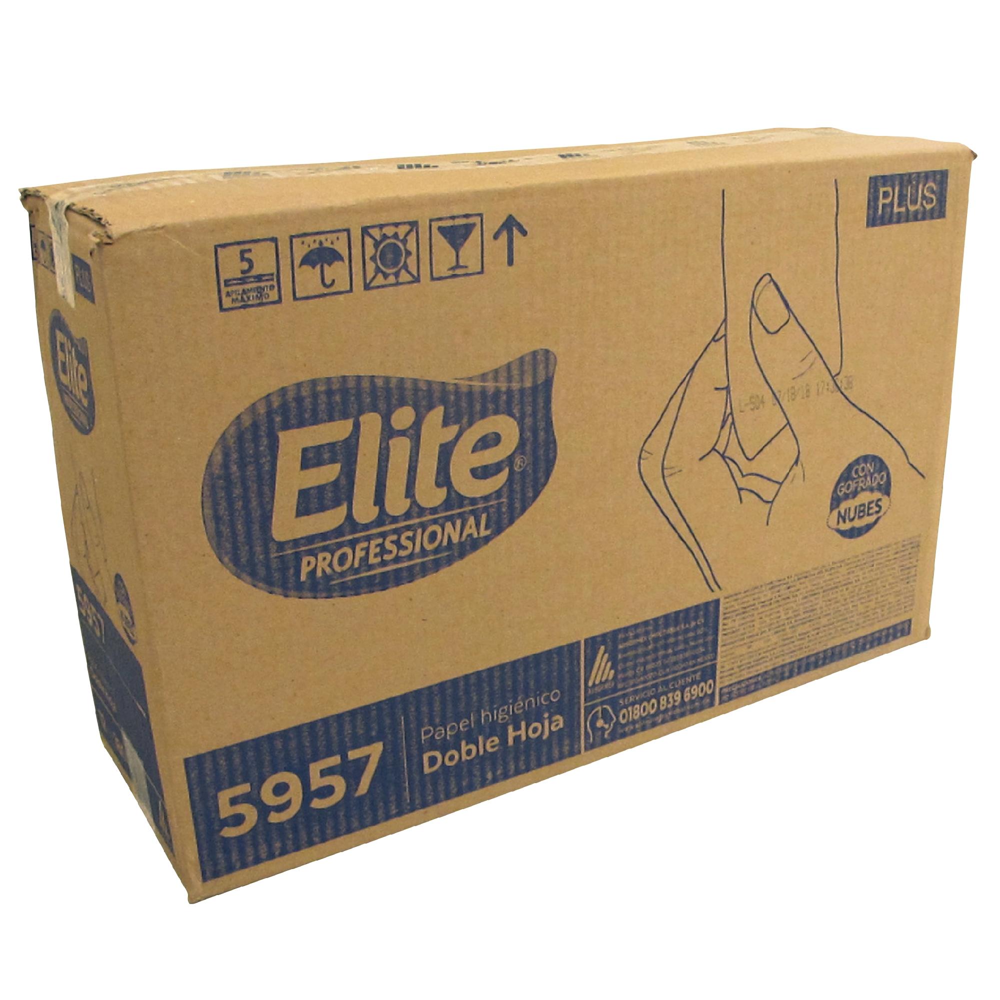 Elite 5957 Higiénico institucional universal junior hoja doble, caja con 12 rollos de 180 mts cada uno 1