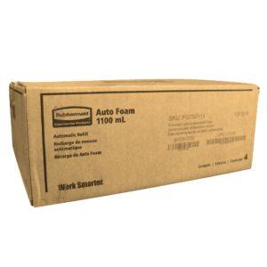 Rubbermaid FG750111 Jabón en espuma con acción  hidratante, caja con 4 cartuchos de 1100 ml cada uno