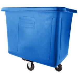 Rubbermaid FG461200DBLUE carro de carga azul para reciclaje con capacidad para 12 pies cubicos