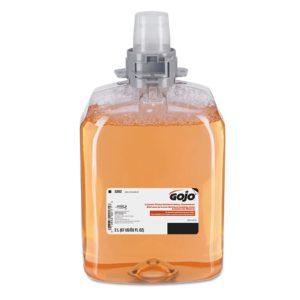 GOJO 5262-02 Jabón espuma antibacterial con aroma a fruta fresca, caja con 2 cartuchos de 2000 ml cada uno