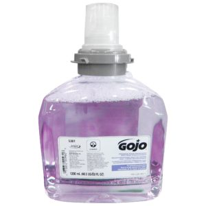 GOJO 5361-02 Jabón espuma color morado, con acondicionadores para piel, caja con 2 cartuchos de 1200 ml