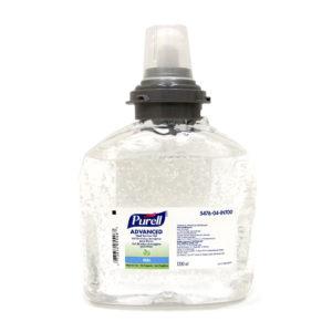Purell 5476-04 Gel antibacterial para manos, caja con 2 cartuchos de 1200 ml cada uno