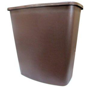 Cesto de plástico, mediano, color café