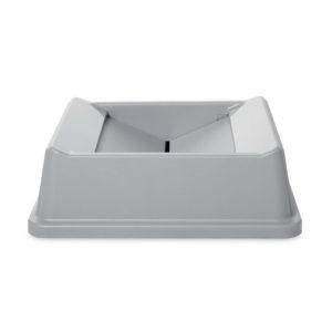 Rubbermaid FG266400GRAY  tapa abatible Untouchable cuadrada color gris, aplican contenedores  FG395873 y FG395973
