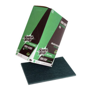 3M Scotch Brite fibra P-96 de 22.9 x 15.2cm, uso general, color verde, caja con 12 piezas