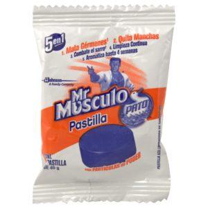 Pastilla Mr.Músculo color azul para inodoro