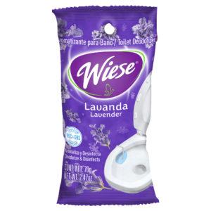 Pastilla aromatica y desinfectante marca Wiese para baño