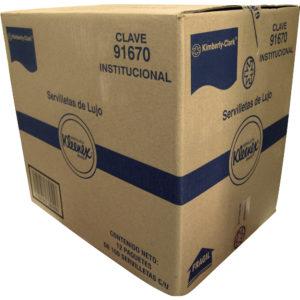 Kimberly Clark 91670 Servilleta deluxe Kleenex color blanca, caja con 12 paquetes de 100 piezas cada uno