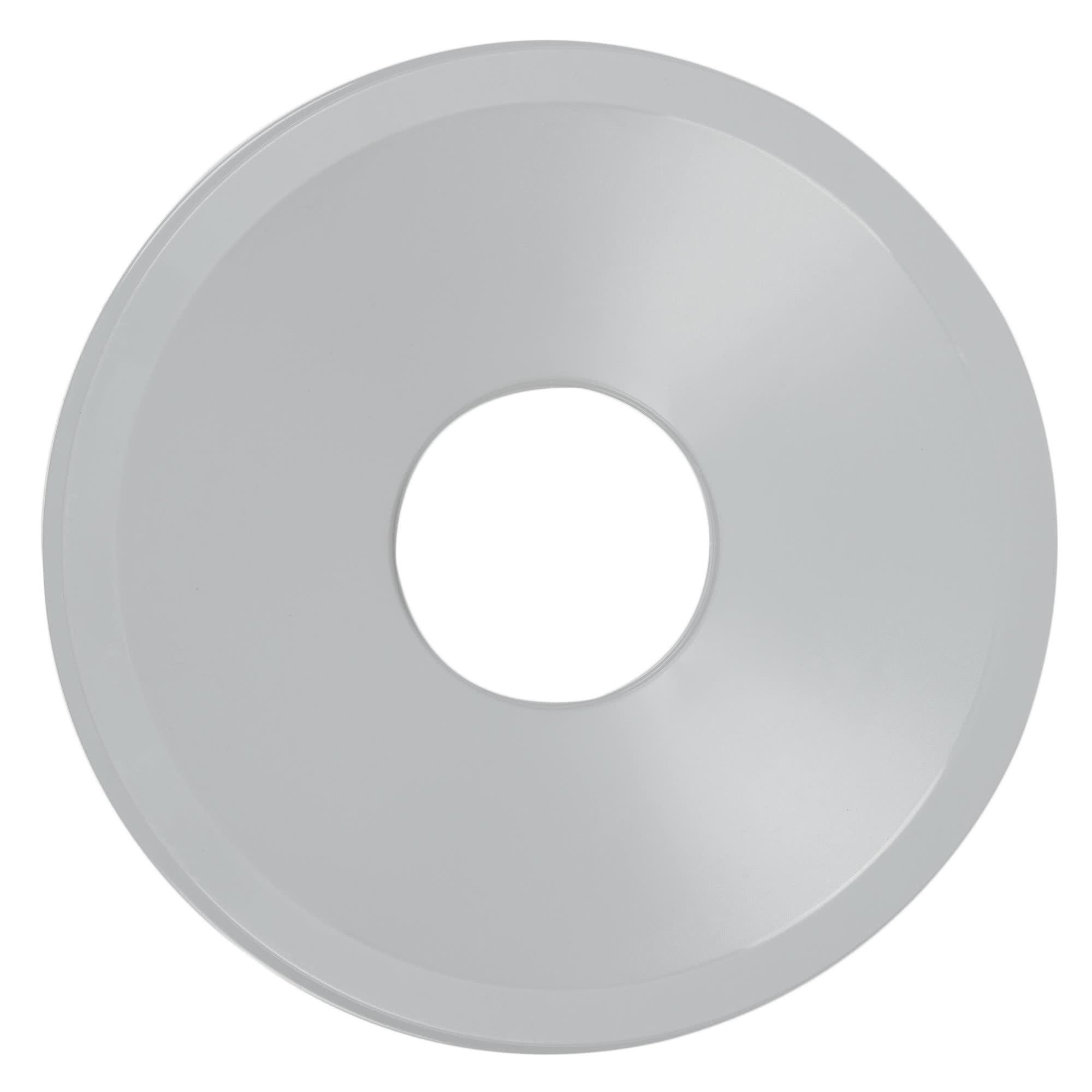 Rubbermaid FG354800GRAY tapa untouchable color gris round funnel top, aplican contenedores FG294700 y FG354600 2