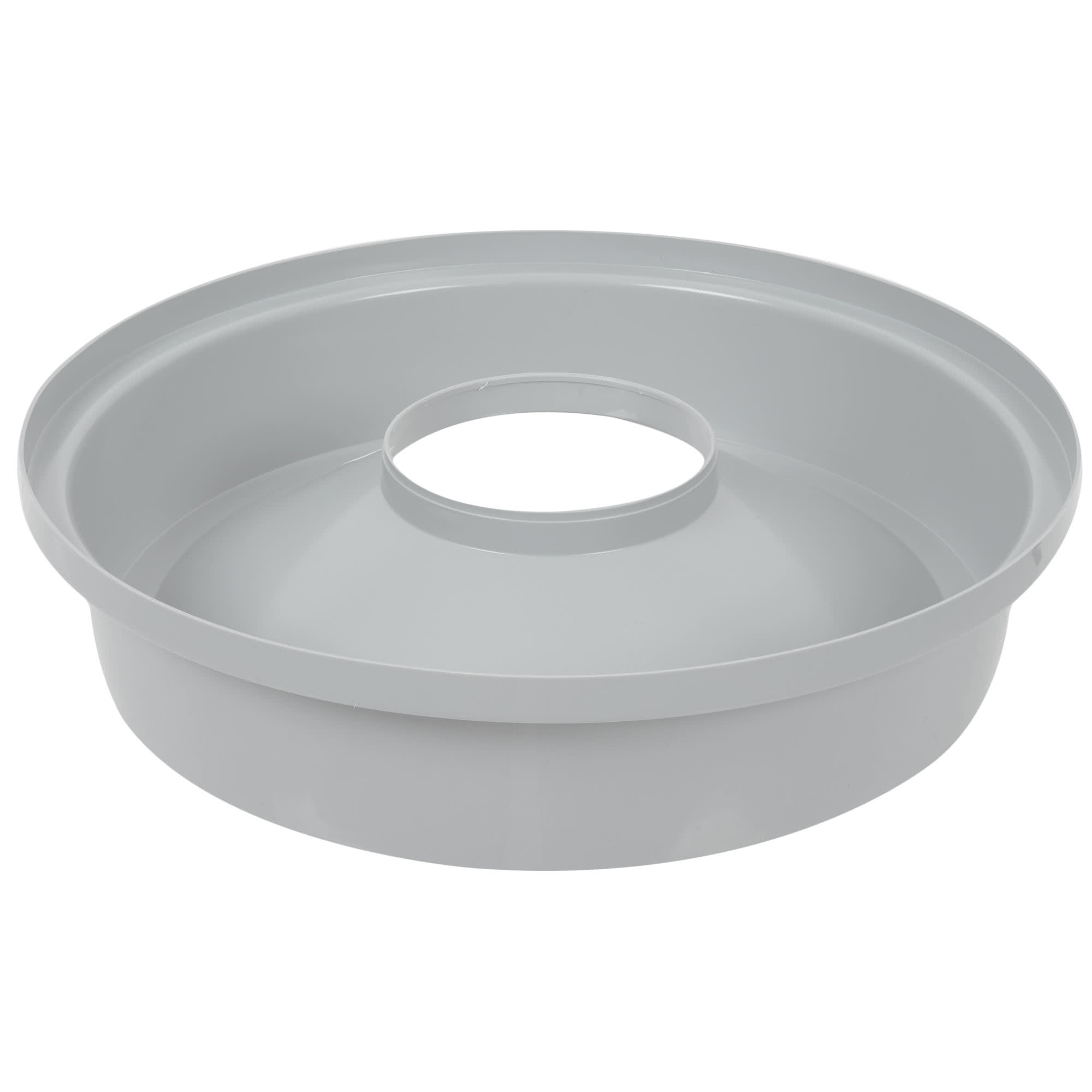 Rubbermaid FG354800GRAY tapa untouchable color gris round funnel top, aplican contenedores FG294700 y FG354600 3