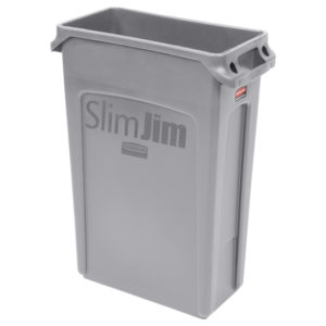 Rubbermaid FG354060GRAY contenedor Slim-jim con capacidad para 23 galones, color gris