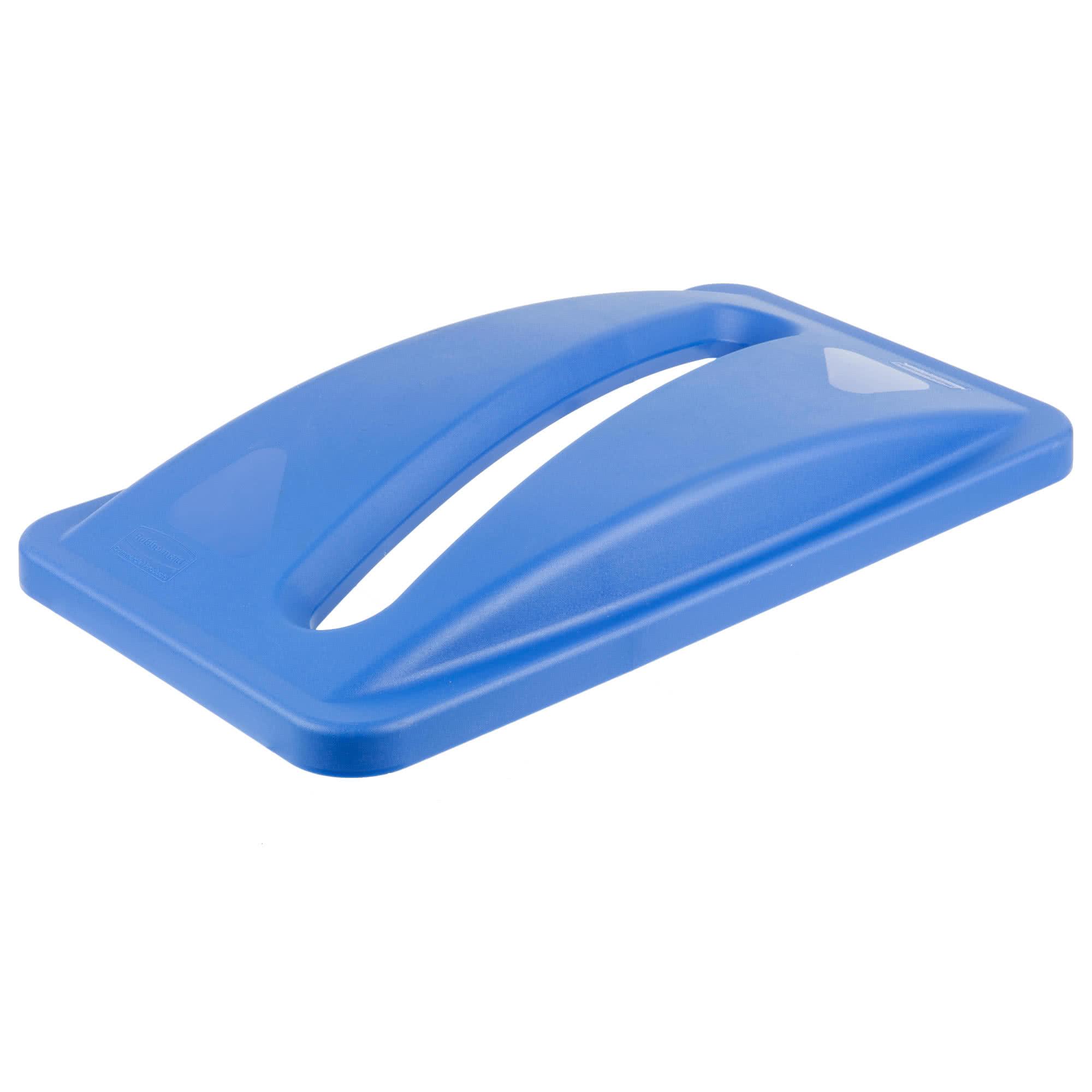 Rubbermaid FG270388BLUE tapa Slim-jim color azul para reciclaje de papel, aplican contenedores Slim-jim 2