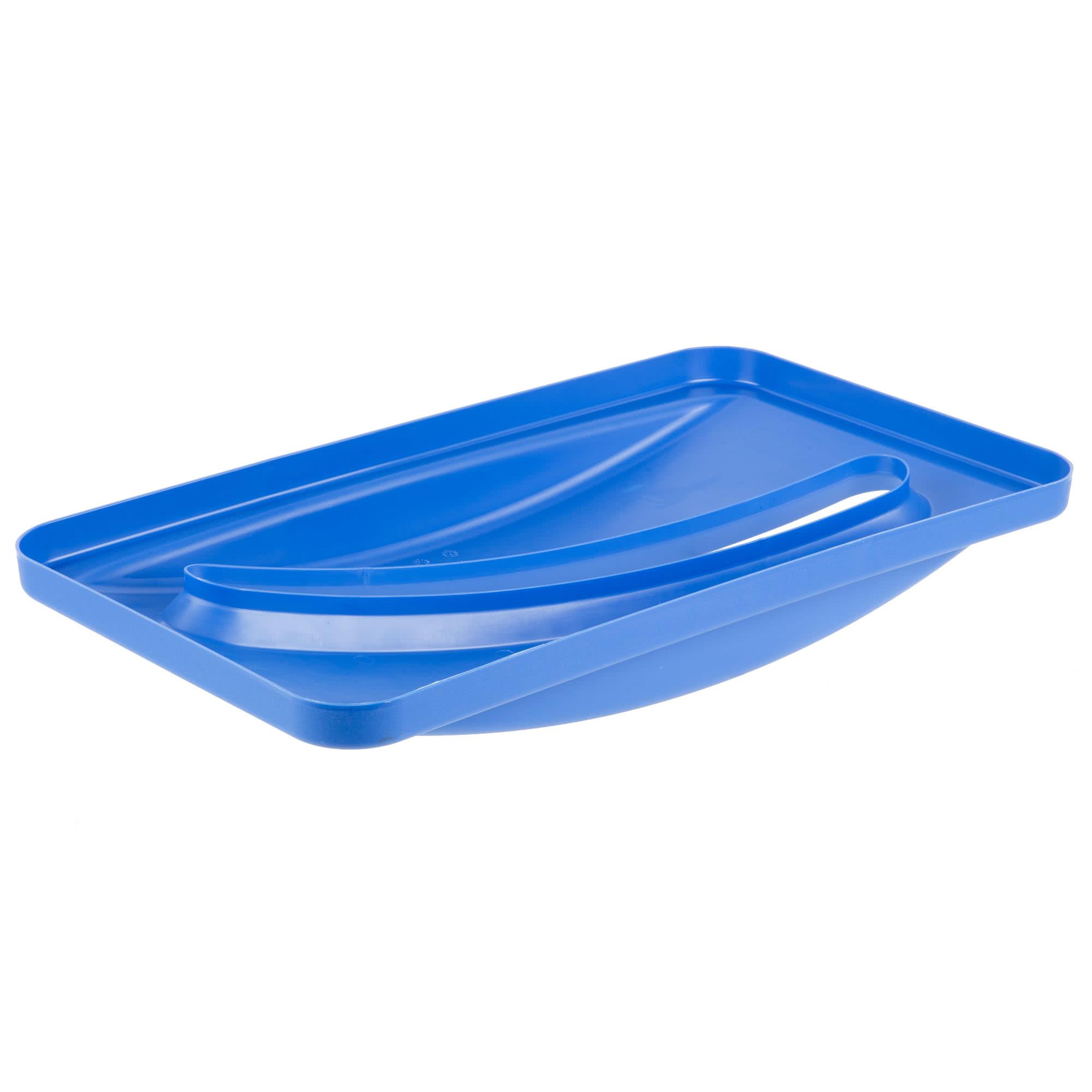 Rubbermaid FG270388BLUE tapa Slim-jim color azul para reciclaje de papel, aplican contenedores Slim-jim 3