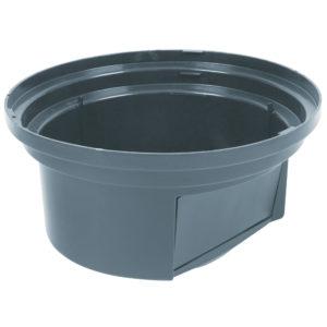 Rubbermaid FG265788GRAY tapa domo abatible Brute color gris, aplica contenedor brute de 55 galones