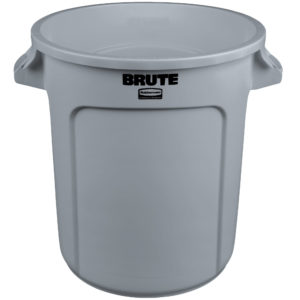 Rubbermaid FG261000GRAY contenedor Brute color gris con capacidad para 10 galones