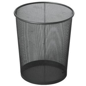 Rubbermaid FGWMB20BK basurero decorativo Concept Collection perforado con capacidad para 5 gal, acero color negro, circular