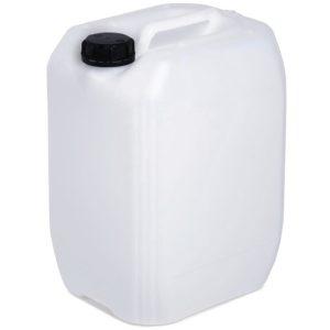 Envase de plástico, con capacidad para 20 litros