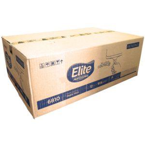 Elite 6810 Higiénico institucional diferenciado fluido céntrico de hoja doble, caja con 12 rollos de 200 mts cada uno