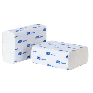 Tork 700174 toalla interdoblada hoja doble color blanco 21.5 x 16, caja con 12 paquetes de 250 toallas cada uno