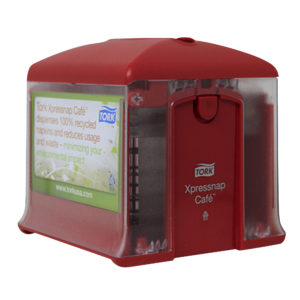 Tork 700562 Servilletero Xpressnap tabletop, color rojo