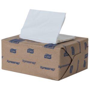 Tork 70134234 Servilleta Xpressnap pequeña color blanca, caja con 12 paquetes de 500 hojas cada uno
