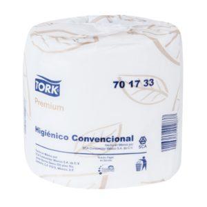 Tork 701733 Higiénico Tradicional hoja doble, paquete con 48 rollos de 500 mts cada uno