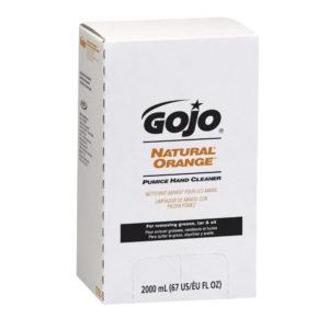 GOJO 7255-04 Crema limpiadora industrial con piedra pómez, limpiador de grasas y suciedad difícil en la piel, caja con 4 cartuchos de 2000 ml, aplica despachador Gojo 7200