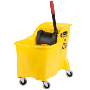 Rubbermaid FG738000YEL Wave Brake de prensa frontal con capacidad para 7.7 galones,  color amarillo