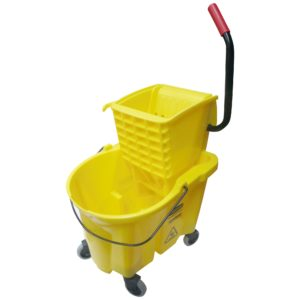 Rubbermaid FG748000YEL Wave Brake de prensa lateral con capacidad para 6.5 galones, color amarillo