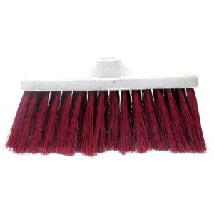 Cepillo rojo para escoba de plastico