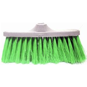 Cepillo verde para escoba de plastico