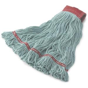 Rubbermaid FGA15306GR00 Web foot en algodón de 24 Oz color verde con 5 pulgadas de banda sujetadora