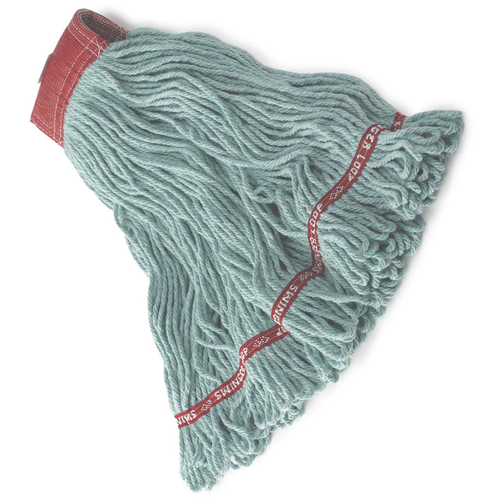 Rubbermaid FGA15306GR00 Web foot en algodón de 24 Oz color verde con 5 pulgadas de banda sujetadora  1