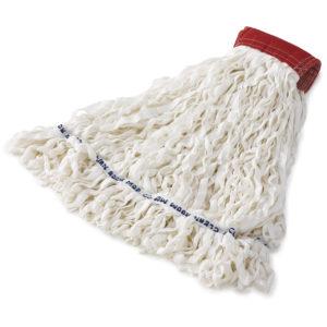 Rubbermaid FGT30100WH00 super stitch de 24 Oz color blanco con 5 pulgadas de banda sujetadora