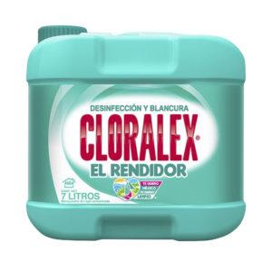 Bidón con 7 litros de líquido blanqueador marca CLORALEX