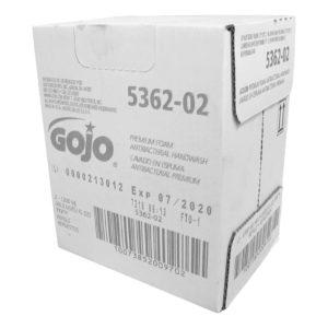 GOJO 5362-02 Jabón espuma antibacterial para manos aroma fresco caja con 2 cartuchos de 1200 ml cada uno