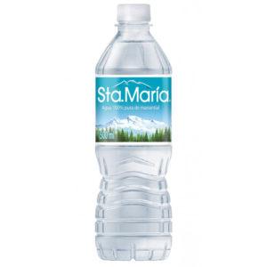 Agua embotellada Santa Maria de 500 ml con 24 pzs
