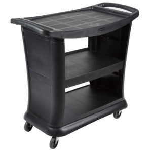 Rubbermaid FG9T6800BLA carrito de servicio executive con tres estantes