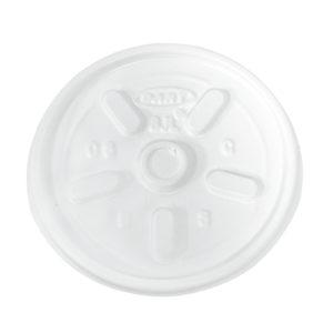 Dart 8JL tapa  transparente con respiradero, caja con 1000 piezas en 10 paquetes