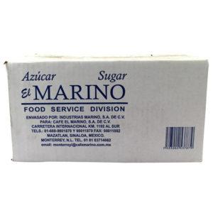 Caja de azúcar marca Marino con 1000 sobres