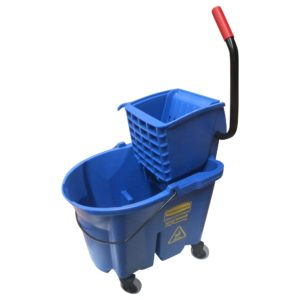 Rubbermaid FG758888BLUE Wave Brake de prensa lateral con capacidad para 8.7 galones, color azul