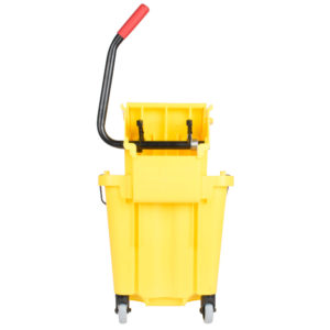Rubbermaid FG758088YEL Wave Brake de prensa lateral con capacidad para 8.7 galones,  color amarillo